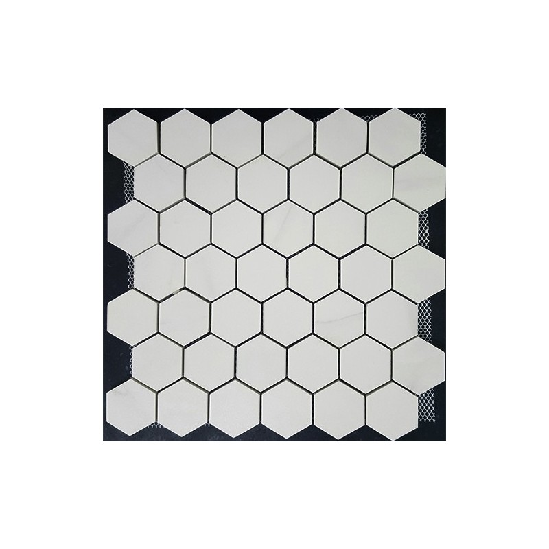 Hexagon Statuario Matt Porcelain Mosaic 48x55