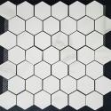 Hexagon Statuario Polish Porcelain Mosaic 48x48