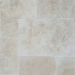 Classico Light French Pattern Tumbled Tile Travertine