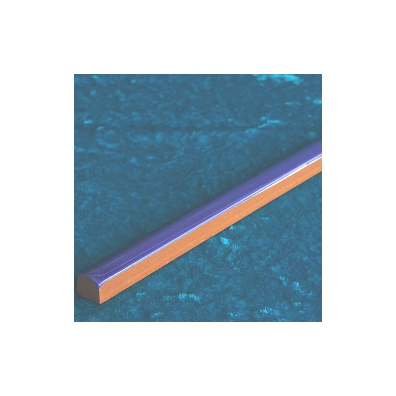 Transparent Blue Gloss Pencil Listello Ceramic Tiles