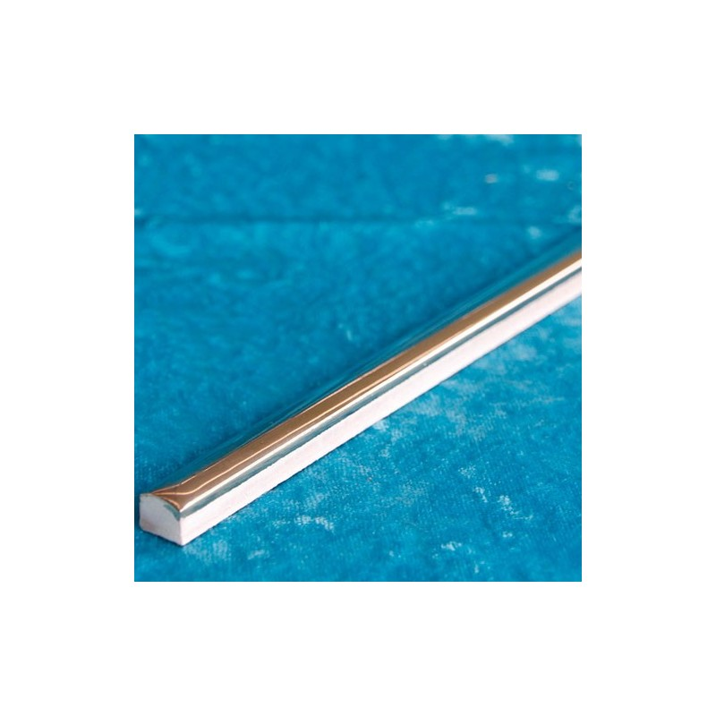 Silver Gloss Pencil Listello Ceramic Tiles