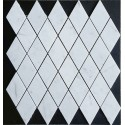 Carrara Diamond Honed Marble Mosaic 50x100