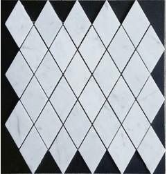 Carrara Diamond Honed Marble Mosaic 50x100