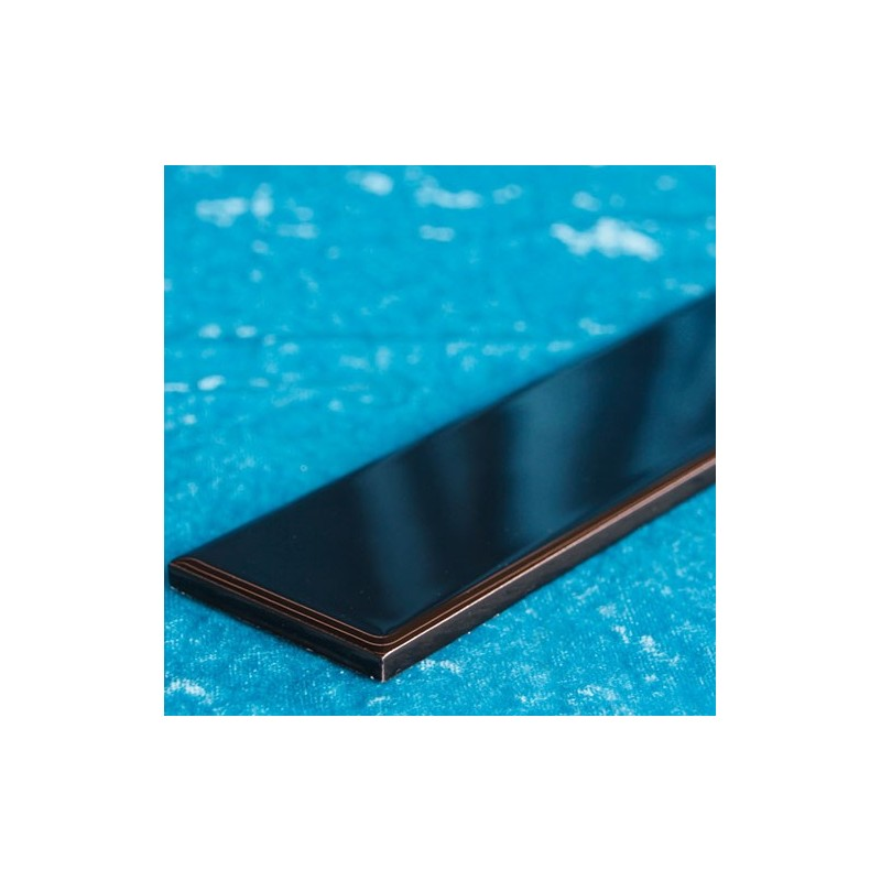 Black Gloss Flat Border Ceramic Tiles