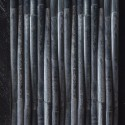 Bamboo Design Black Quartz Mosaic Tile