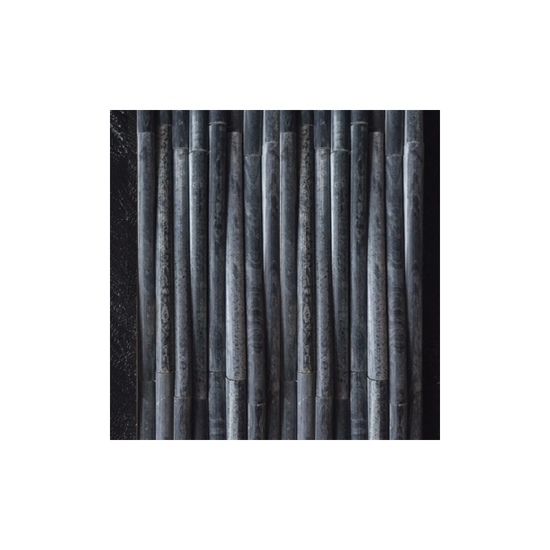 Bamboo Design Black Quartz Mosaic Tile