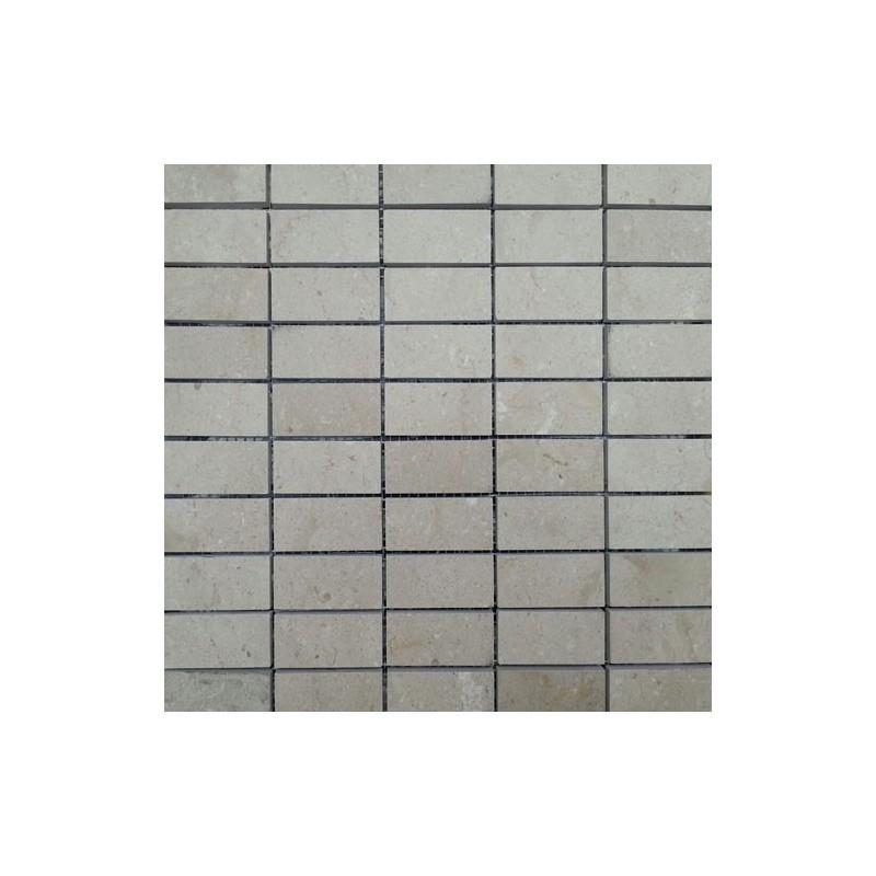 New Botticino Honed Marble Mosaic