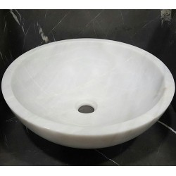 Bianca Luminous Honed Round Basin Marble