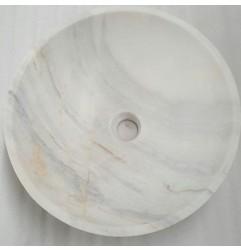 Bianca Luminous Honed Round Basin Marble