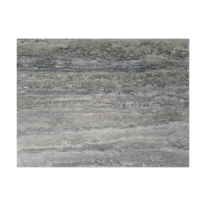 Silver Veincut Epoxy Filled Honed Travertine