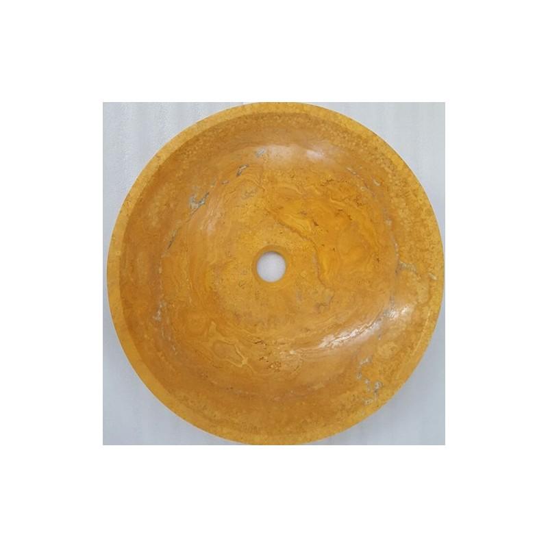 Giallo Honed Round Basin Travertine