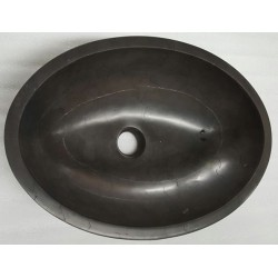 Pietra Grey Polished Oval Basin Limestone