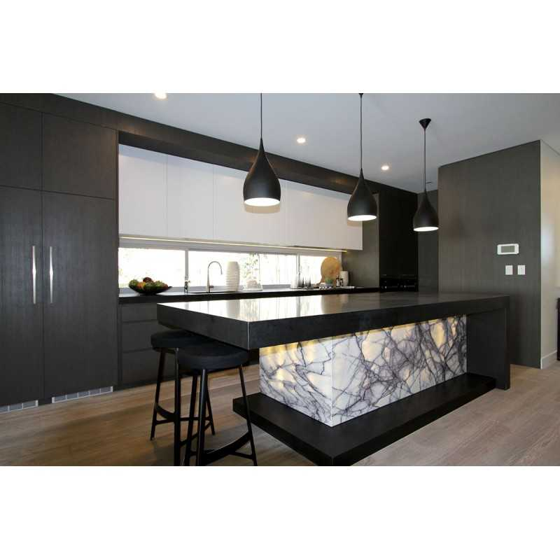 Granite Kitchen Bench Tops: Nero Absolute Honed Granite Tile