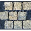 Alpine Gold (Tiger Skin) Natural Split Brick Pattern Cobblestone Granite