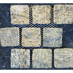 Alpine Gold (Tiger Skin) Natural Split Brick Pattern Cobblestone Granite