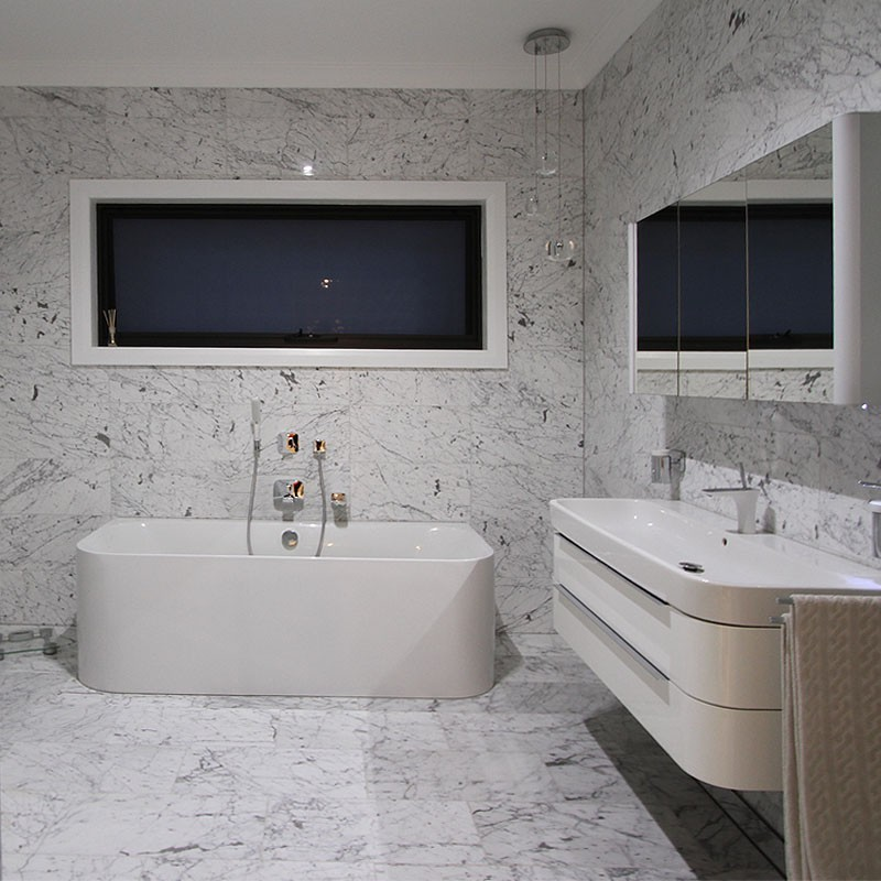 Italian Carrara Gioia Honed Marble Tile