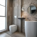 Serpeggiante Grigio Herringbone Honed Limestone Mosaic 20x64