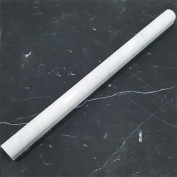 Carrara Honed Pencil Border Capping Marble 305x20