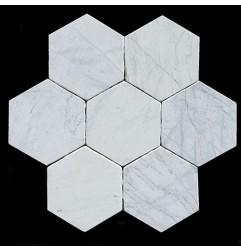 Persian White Hexagon Tumbled Marble