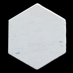 Persian White Hexagon Tumbled Marble