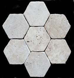 Classico HexagonTumbled Paver Travertine