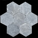 Pietra Grey Hexagon Tumbled Limestone