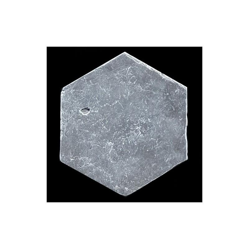 Pietra Grey Hexagon Tumbled Limestone
