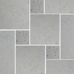 Travertine Chiaro Tumbled - Cross Cut - French Pattern 300mm