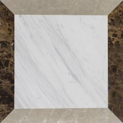 Italian Colonial Polished Marble Porcelain Backed