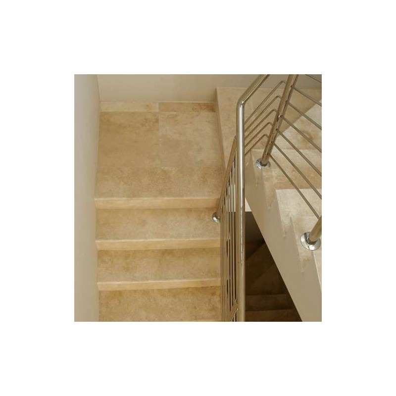 Classico Step Tread Epoxy Filled Honed Travertine
