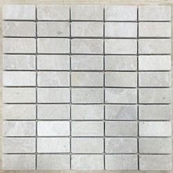 New Botticino Tumbled Marble Mosaic 60x30