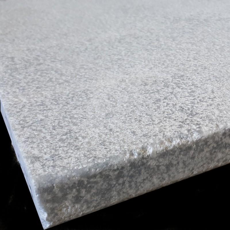 Crystal Grey Sandblasted Pencil Edge Marble