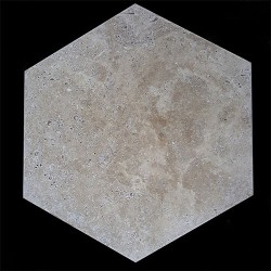 Classico Hexagon Tumbled Travertine