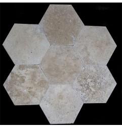 Classico HexagonTumbled Travertine