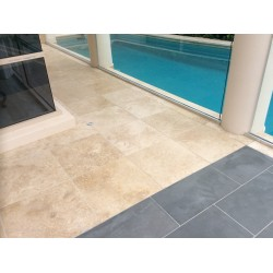 Classico Light Unfilled Honed Travertine