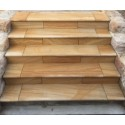 Himalayan Teak Rebated Step Tread Honed Sandstone