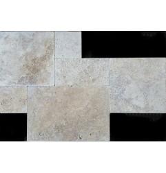 Classico Medium French Pattern Tumbled Tile Travertine