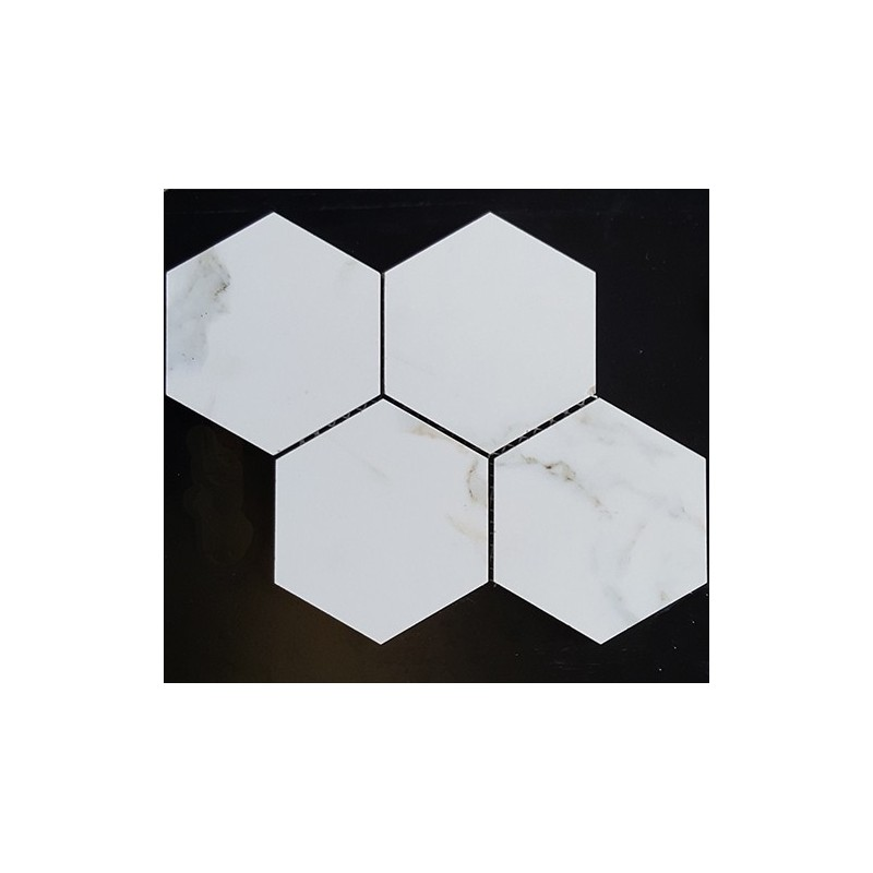 Hexagon Calacatta Gold Honed Porcelain Mosaic 150x130