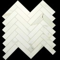 Herringbone Calacatta Gold honed Porcelain Mosaic 25x100