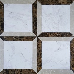 Italian Colonial Window Polished Marble Porcelain Backed
