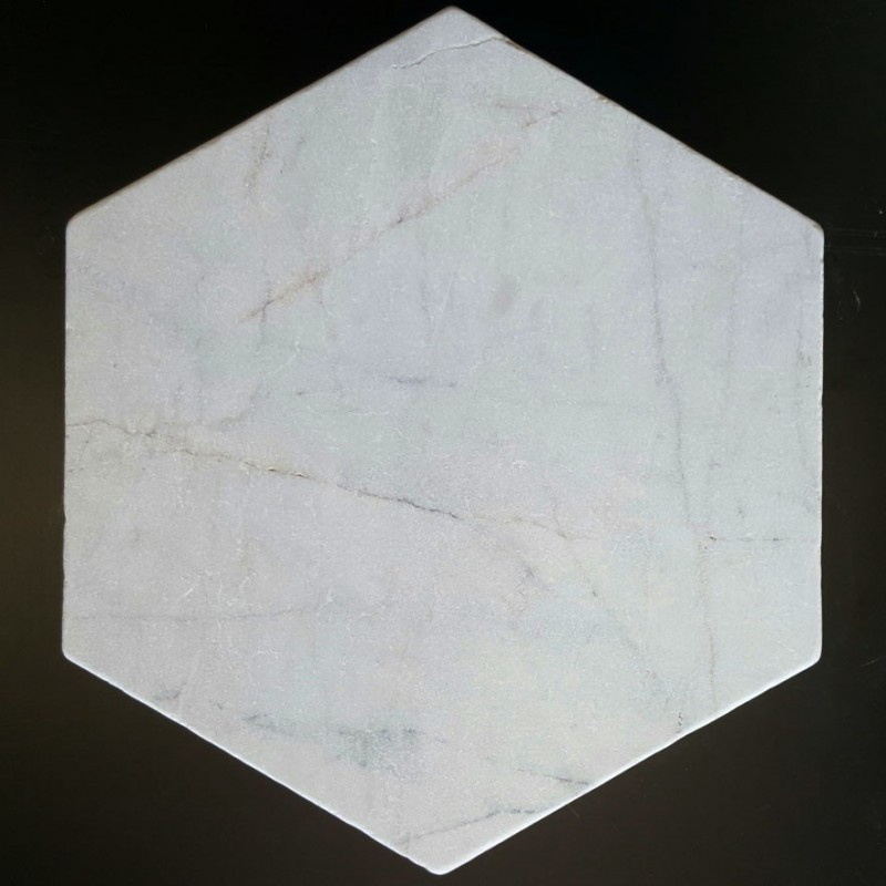 Bianca Luminous Hexagon Tumbled Marble