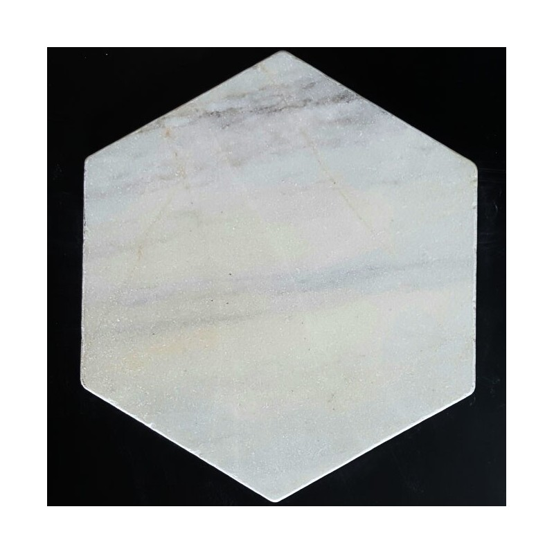 Bianca Luminous Hexagon Tumbled Paver Marble