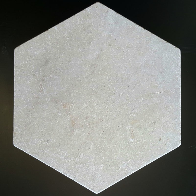 New Botticino Hexagon Tumbled Paver Marble