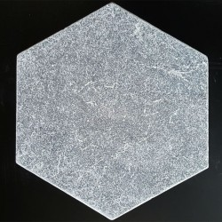 Crystal Grey Hexagon Tumbled Marble