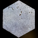Silver HexagonTumbled Paver Travertine