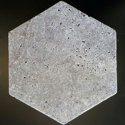 Silver Hexagon Tumbled Travertine