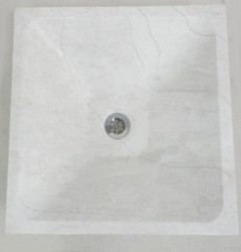 Bianca Perla Limestone - Square Angle Basin - Honed