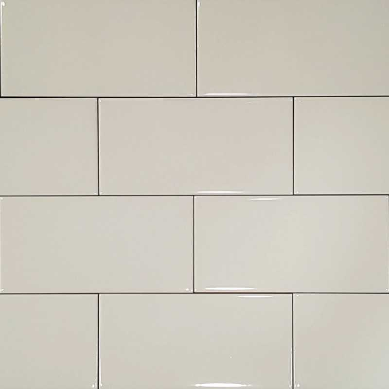 Kitchen Wall Tiles Ivory: Ivory Gloss Non-Rectified Subway Tile Ceramic