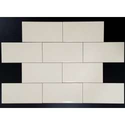 Ivory Gloss Non-Rectified Subway Ceramic 150x75