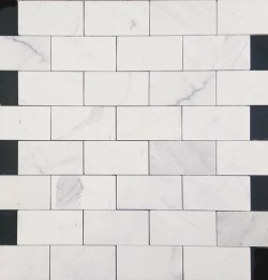 Calacatta Statuario Honed Subway Sheeted Marble